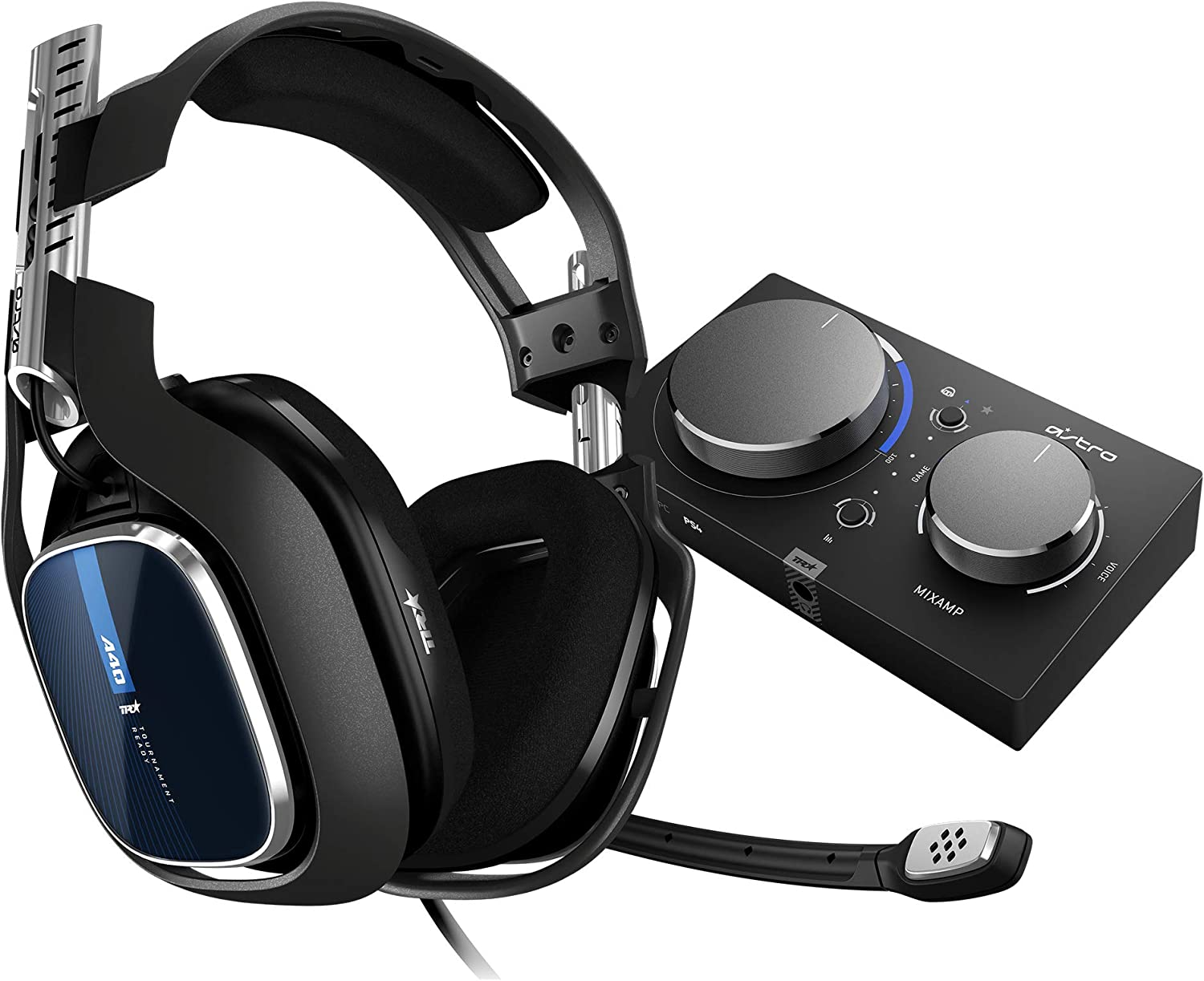 ASTRO Gaming A40 TR Casque Gamer Filaire + MixAmp Pro TR, Génération 4, 7.1 Son Dolby Surround, ASTRO Audio V2, Jack Audio 3,5 mm, Micro