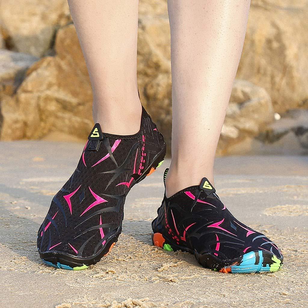 Haluoo Unisex Water Shoes for Women Men Quick-Dry Barefoot Aqua Socks Anti Skid Slip On Water Skin Shoes for Beach Pool Swim Surf Yoga Exercise