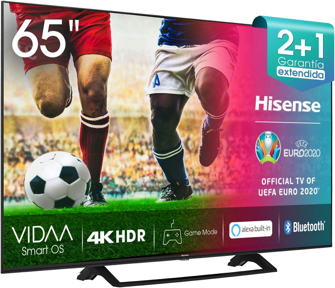 Hisense UHD TV 2020 65AE7200F - Smart TV Resolución 4K con Alexa integrada, Precision Colour, escalado UHD con IA, Ultra Dimming, audio DTS Virtual-X, Vidaa U 4.0