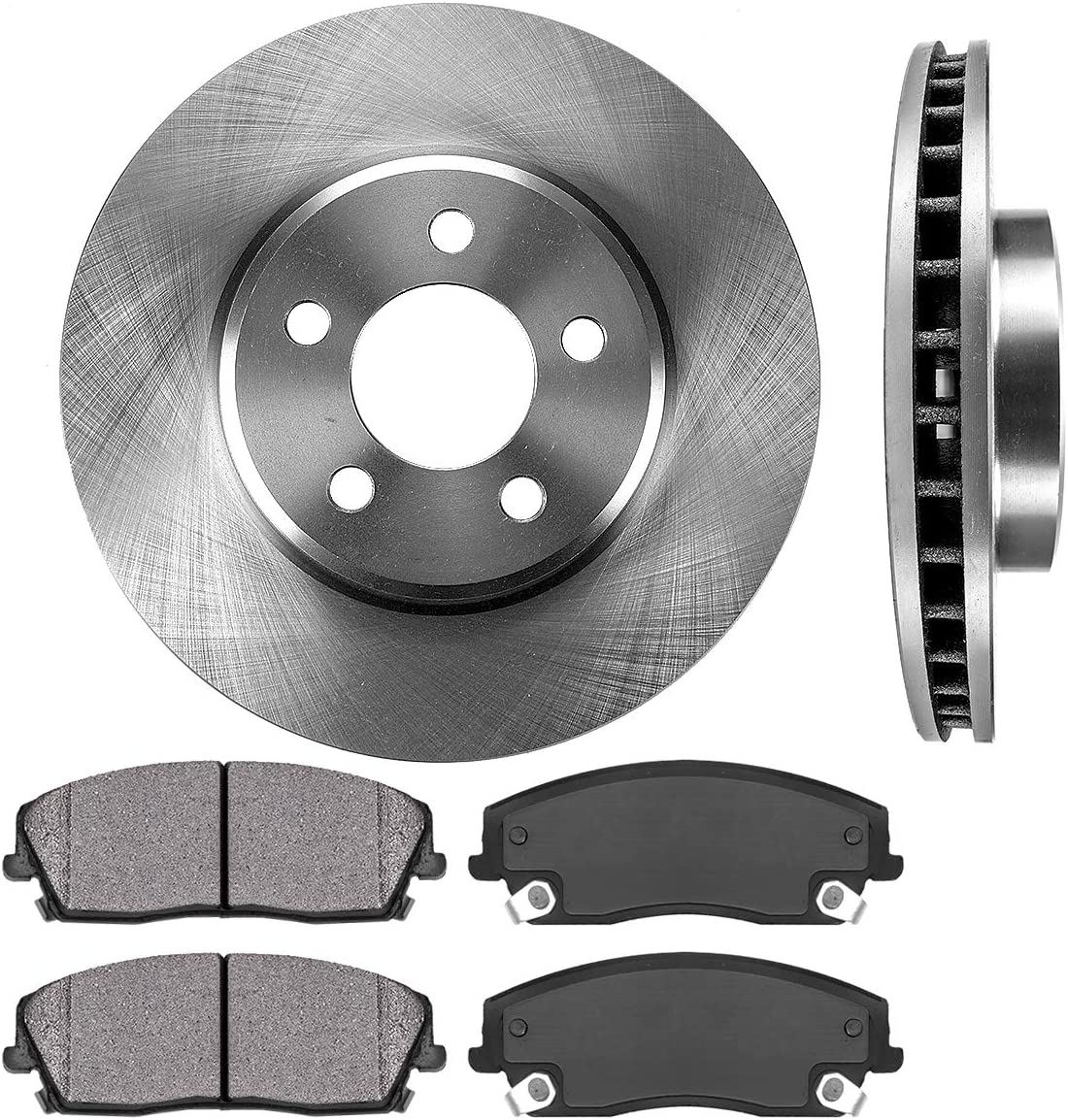 Premium FRONT Brake Rotors for Chrysler 300 Dodge Challenger Charger Magnum Detroit Axle 320mm 12.6