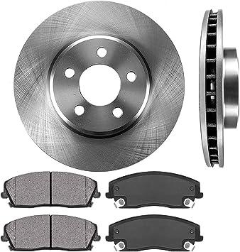 For Chrysler Dodge SRT8 Set of Front Slotted Brake Rotors /& Metallic Pads