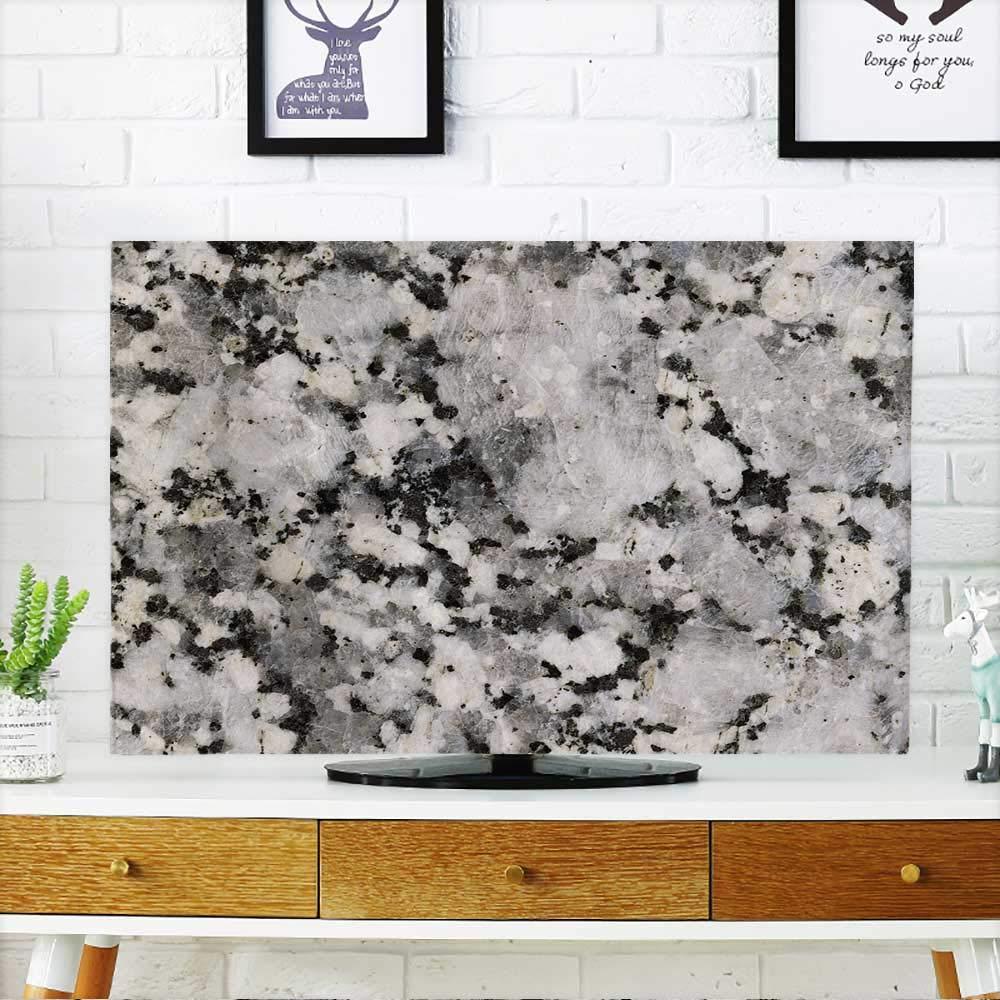 PRUNUS テレビ ストーンテクスチャ テレビを保護 幅19 x 高さ30インチ/テレビ32インチ W36 x H60 INCH/TV 65
