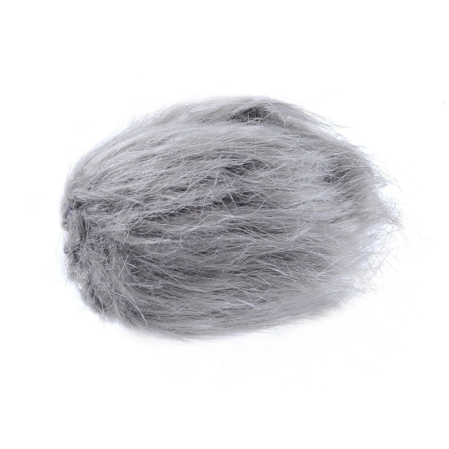 Movo WS1 Furry Outdoor Microphone Windscreen Muff for Small Compact Microphones up to 2.5'' X 40mm (L x D) for the Zoom H1, Apogee MiC and More (Light Gray)