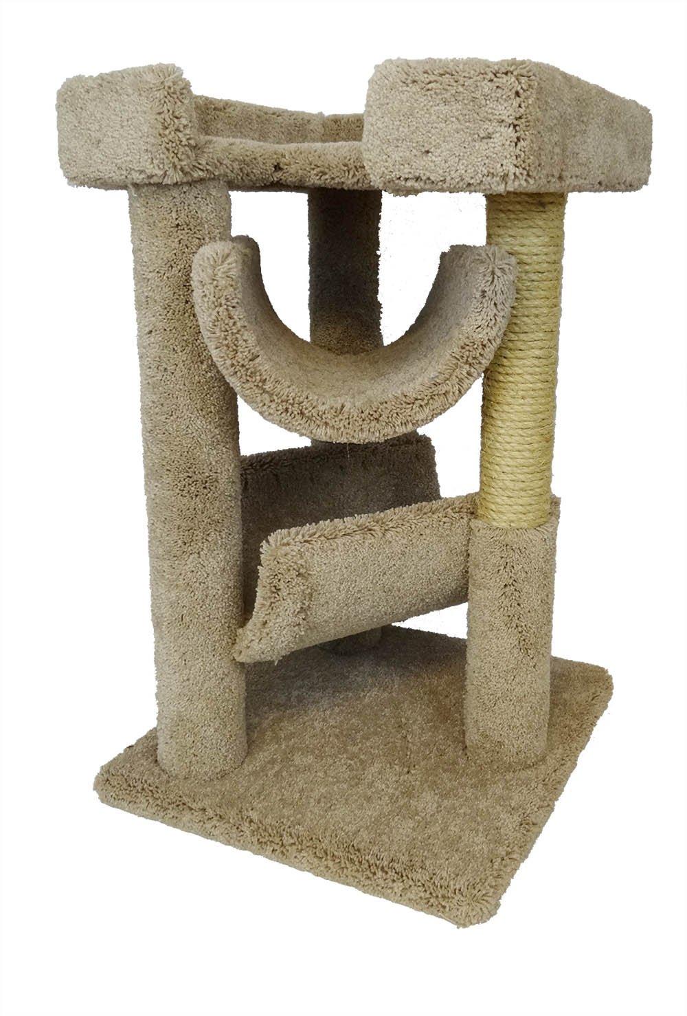 New Cat Condos Premier Cat Scratch and Lounge Beige