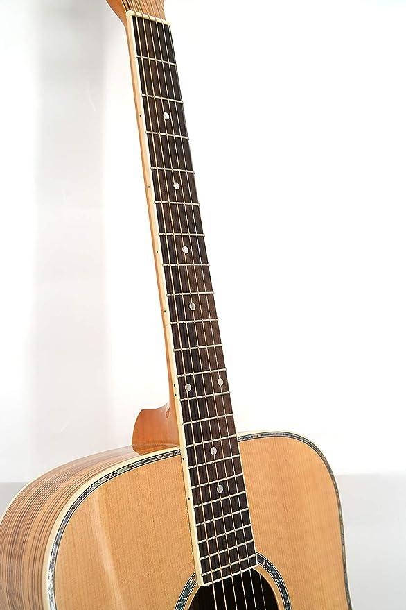 NUYI Guitarra De Placa Única 41 Pulgadas De Abeto De Madera De ...