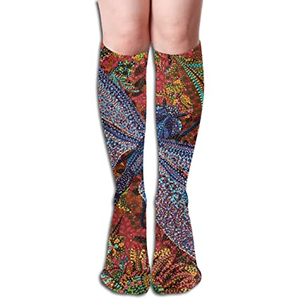 : Women Over Knee High Socks,Polka Dot Sport