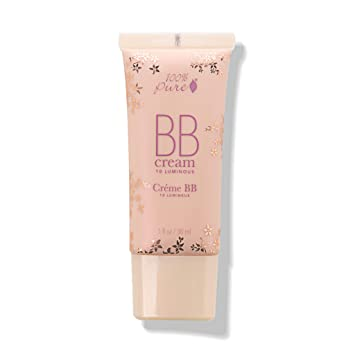 100% PURE BB Cream, Shade 10 Luminous, Full Coverage, All-In-One Primer,  Concealer, Foundation