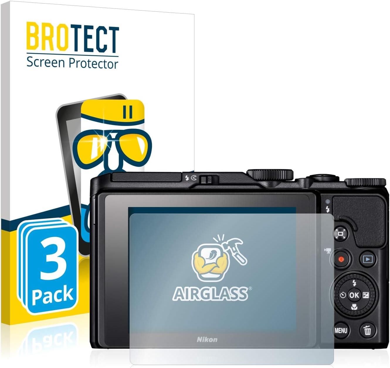 AirGlass BROTECT Protection Ecran Verre pour Nikon Coolpix A1000 Protecteur Vitre 9H