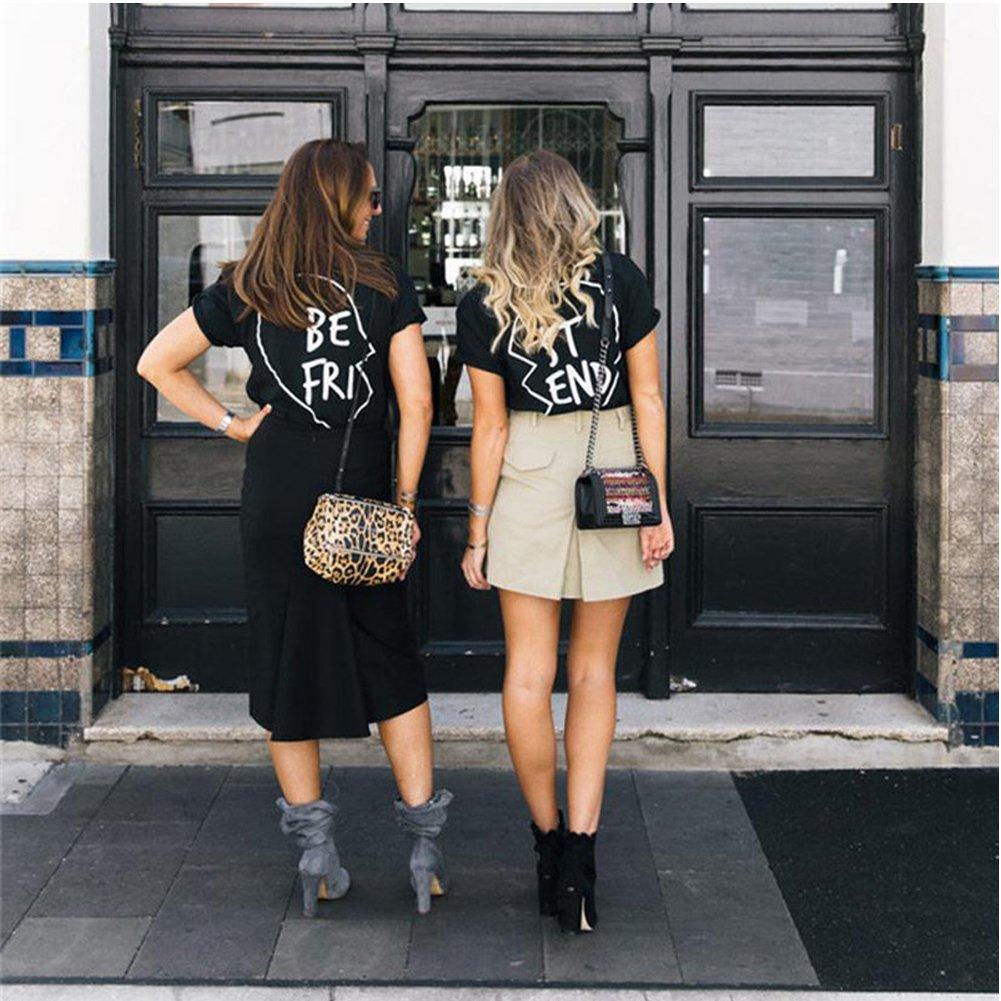 Best Friends Camisetas Mujer Mejor Amiga Tumblr Verano Tops Camiseta Manga Corta