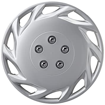 XtremeAuto 15 Classic Silver Car Wheel Trim Hub Cap Covers Turbine Style - Includes Chrome Valve Caps and Silver Cable Ties ...: Amazon.co.uk: Car & ...