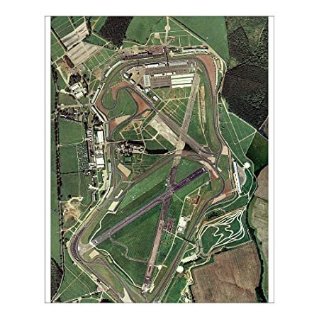 Map Of Uk Race Tracks.Media Storehouse 10x8 Print Of Silverstone Race Track Aerial Image