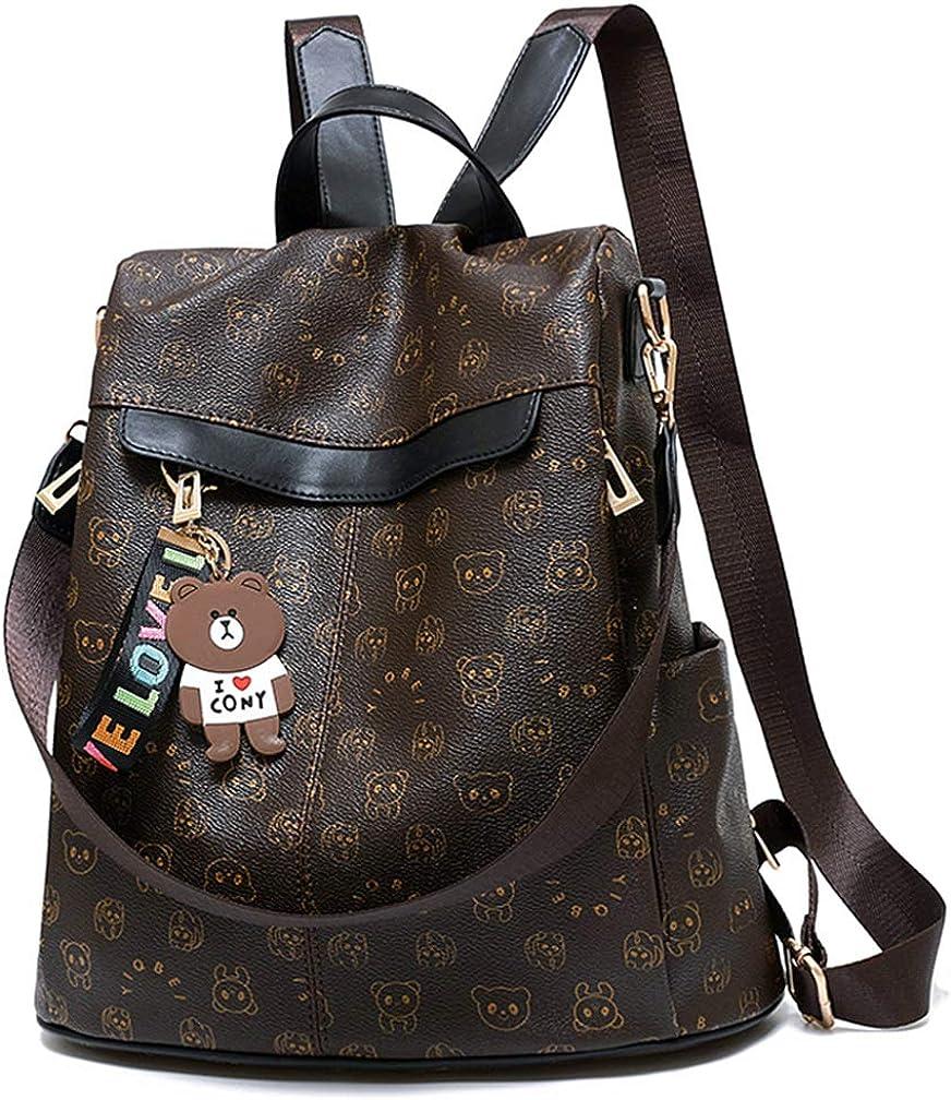 Women Backpack Purse PU Leather Anti-theft Waterproof Casual Rucksack Lightweight School Shoulder Bag