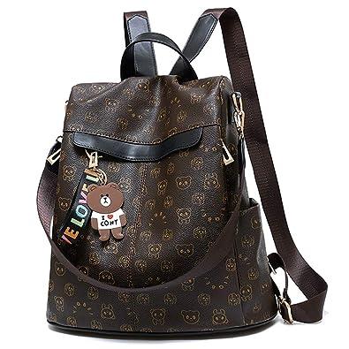 394d3817cd2d Women Backpack Purse Nylon Anti-theft Waterproof Casual Rucksack  Lightweight School Shoulder Bag