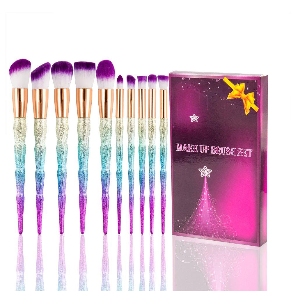 U-beauty® Kabuki Makeup Brush Set - 10PCS Foundation Eyebrow Eyeliner Eye-shadow Brush Cosmetic Conceler Brushes Kit Tool