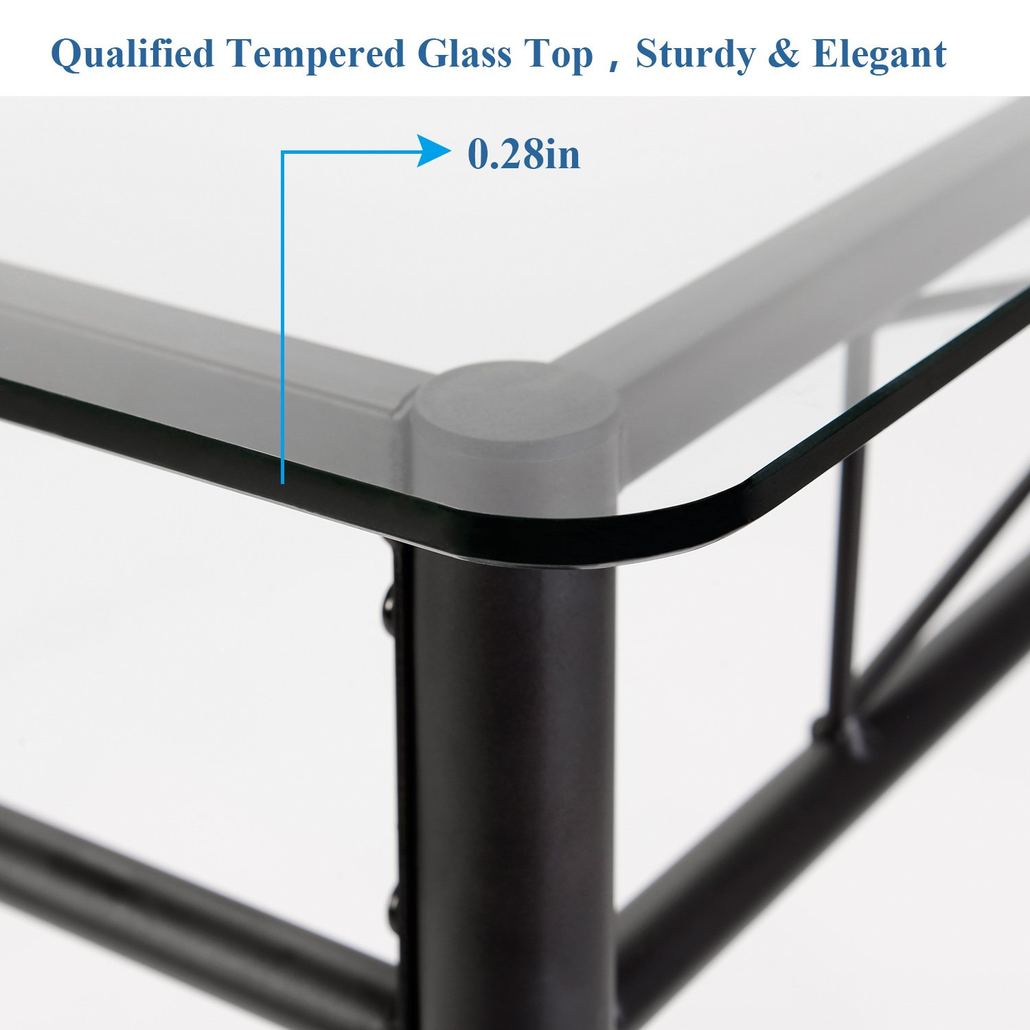 4 Placemats Included- VECELO Dining Table with 4 Chairs Black