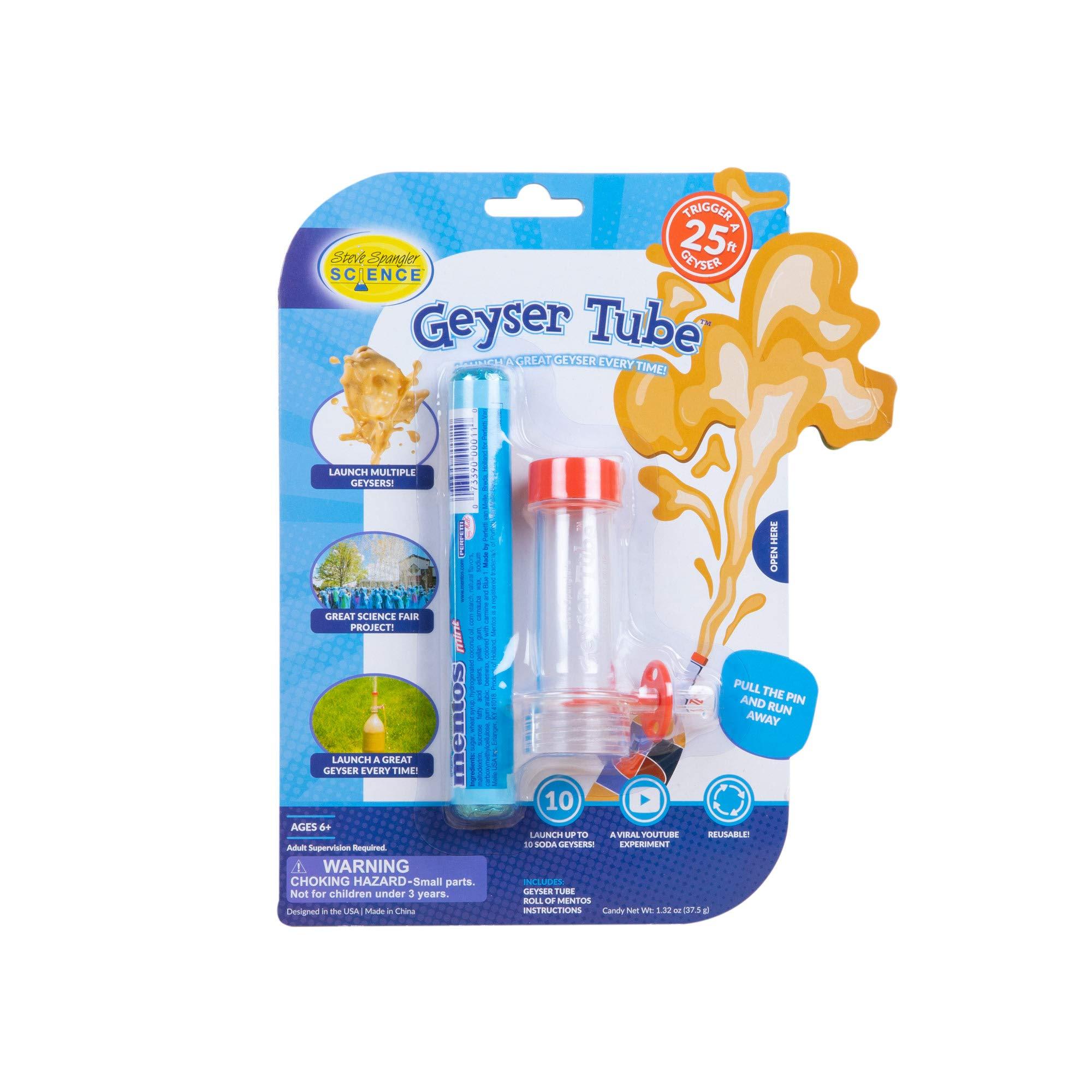 Steve Spangler Science - WGEY-505 Geyser Tube Experiment, 1 Tube – Science Experiment for Kids, Turns Soda Bottle and Mentos Candies into Erupting Geyser
