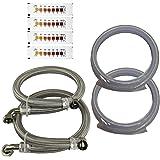Water2buy kit d'installation > en acier inoxydable tressé tuyaux 3/10,2cm (22mm) > kit de trop-plein et d'écoulement > Bande de test de dureté de l'eau