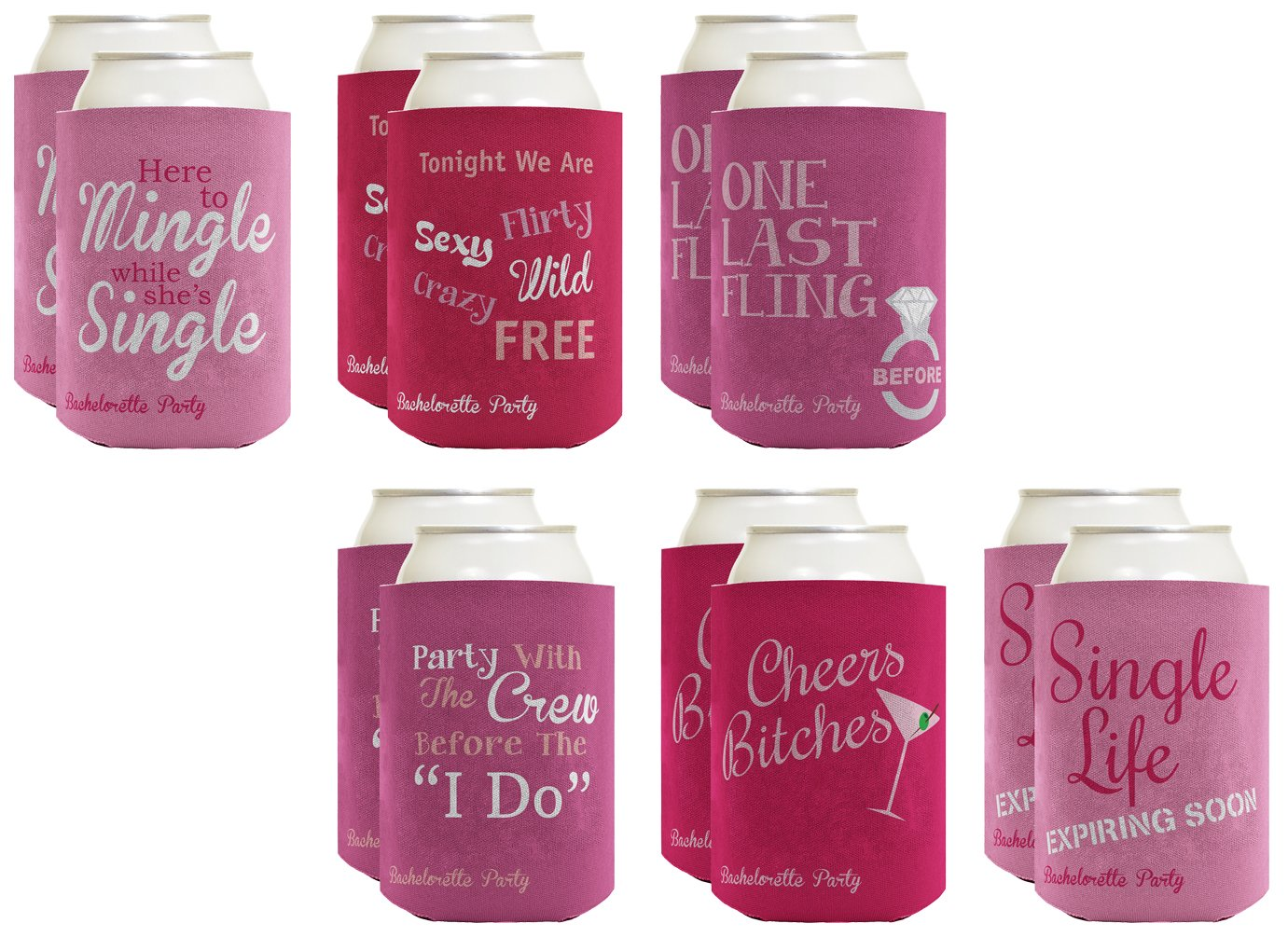 Amazon.com: Funny Beer Coolie Bachelorette Party Coolie Gift Bundle ...