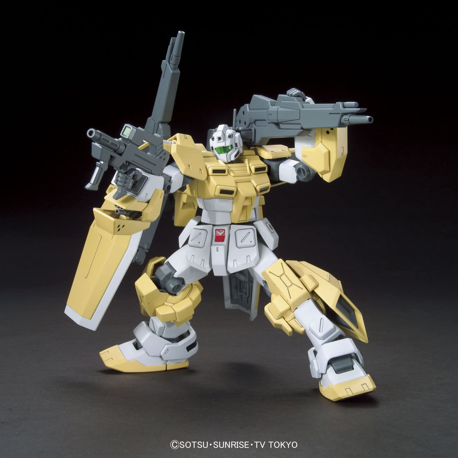 Bandai Hobby HGBF Powered GM Cardigan Gundam Build Fighters Try Action Figure 1//144 Scale