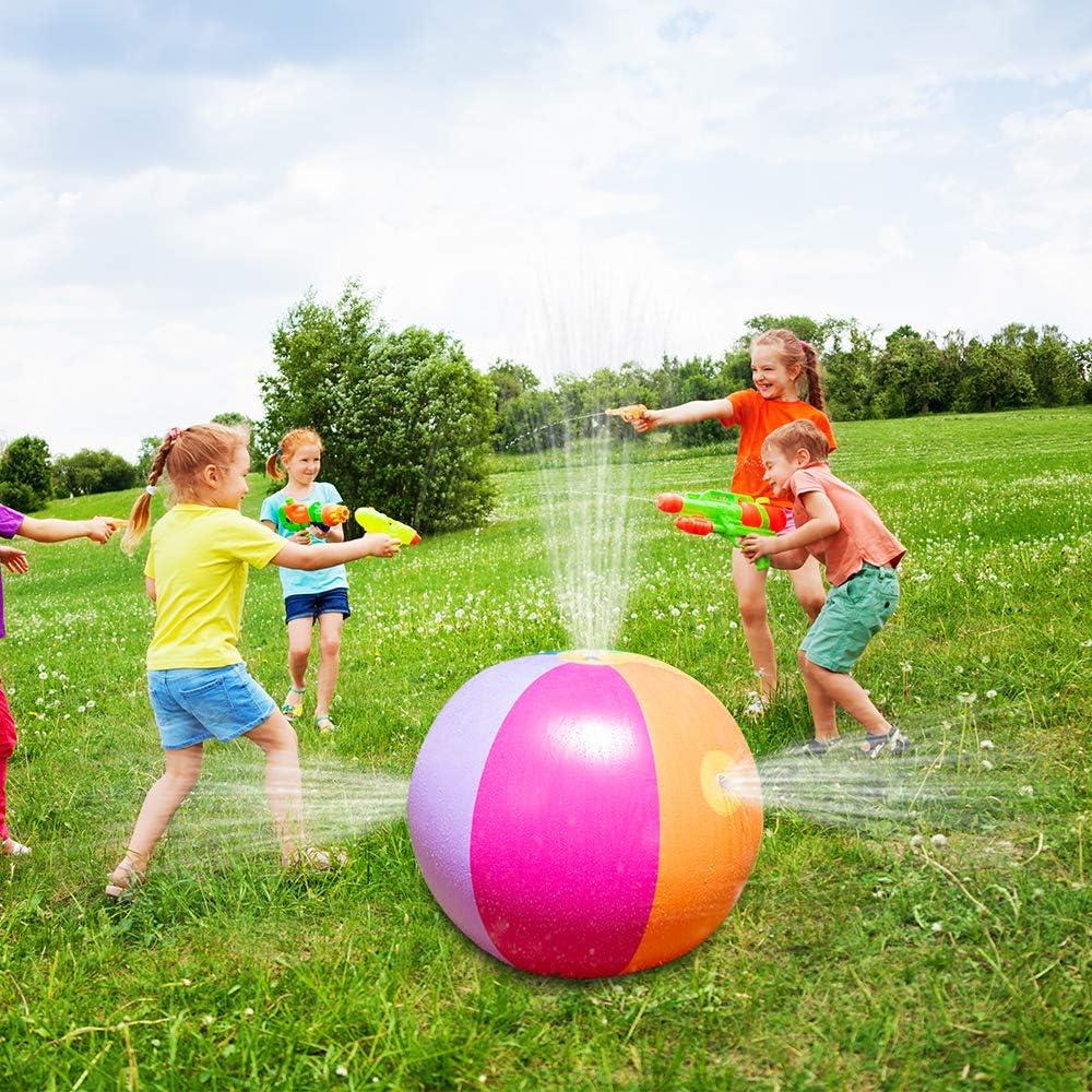 "JOYIN Beach Ball Sprinkler Swimming Pool Large Kids Water Toy for Outdoor 25/"" Dia. 88/"" Perimeter Beach Play Yard Lawn"