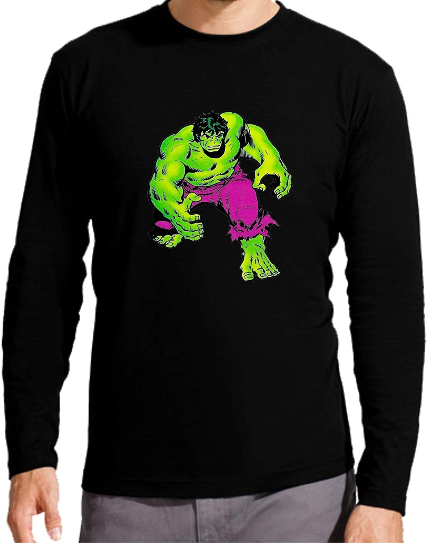Camiseta Manga Larga de NIÑOS Hulk Comic DC La Masa