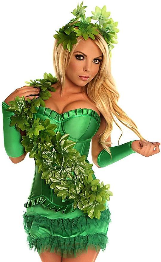 Disfraz sexy de Hiedra Venenosa color verde multicolor: Amazon.es ...