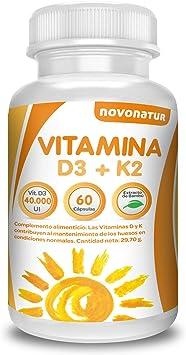 Vitamina D 3 y K2, 60 cápsulas multivitaminicas enriquecidas con ...