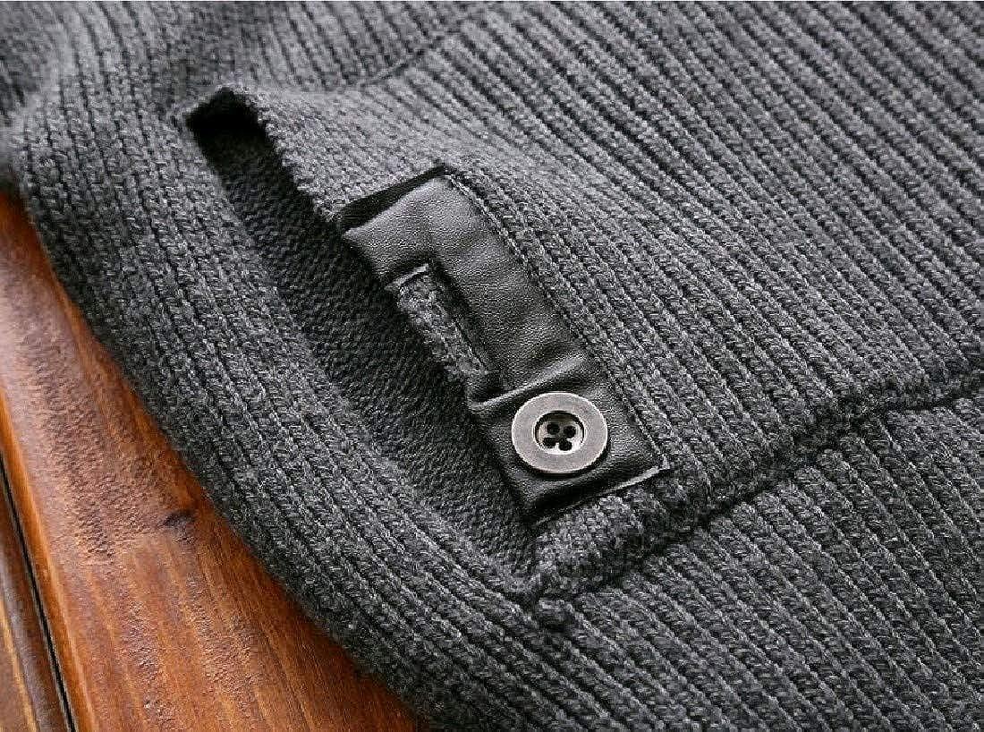 Abetteric Mens Business Leisure Turtleneck Warm Pullover Sweater