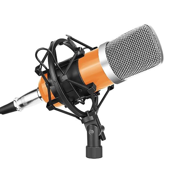 NUEVO JUEGO DE MICRÓFONOS DE CONDENSADOR NW-700 Pro Studio con tapa y cable de espuma de montaje de choque