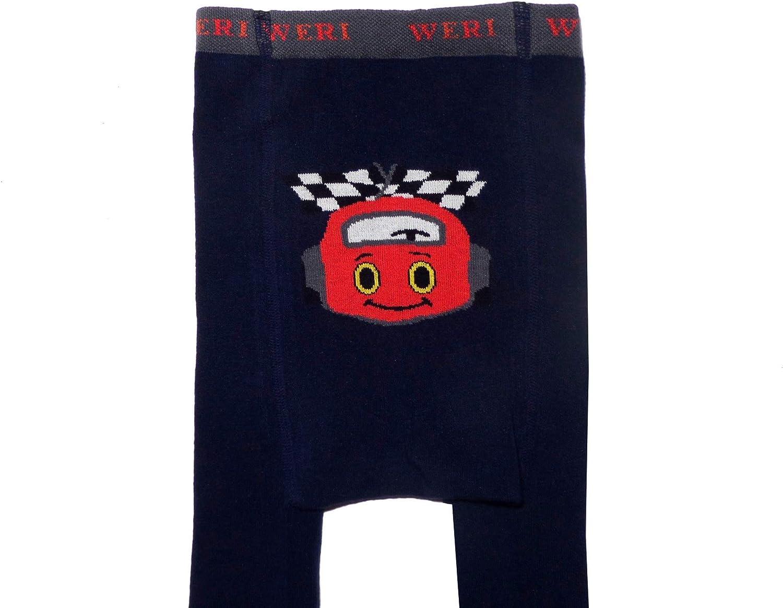 Weri Special Collants pour b/éb/é et enfant avec un Dessign tr/ès mignon Marine. Les gar/çons sont les meilleurs amis de la voiture