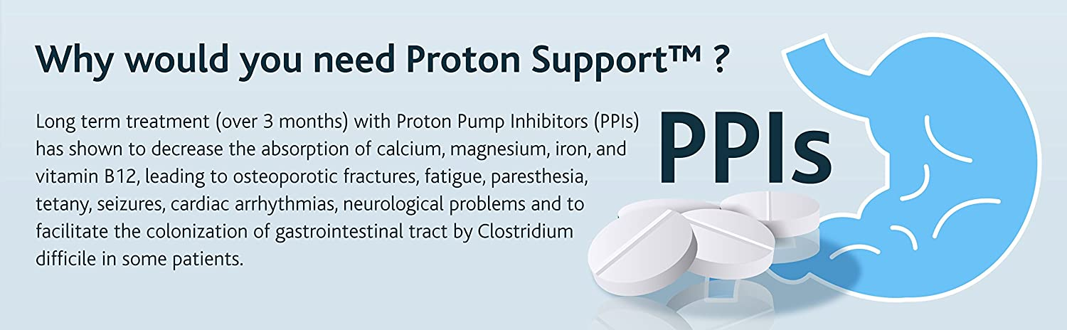 Proton Support (3 pack) - Vitamins, Minerals and Probiotics Complex to  support Acid Reflux and