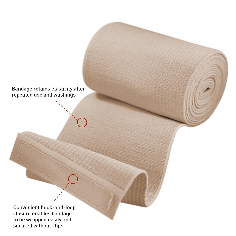amazon com ace elastic bandage with hook closure 4 inches width