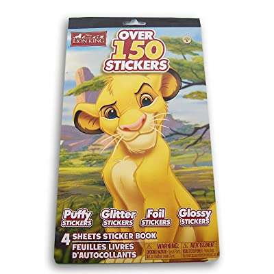 The Lion King Simba Sticker Pad - 6 x 9.5 Inches - Over 150 Stickers: Toys & Games