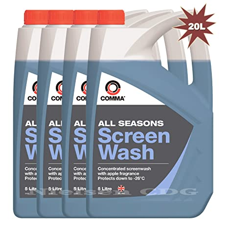 Comma Líquido concentrado para limpiaparabrisas, ideal para todas las estaciones, pack de