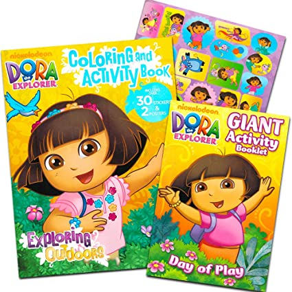 - Amazon.com: Dora The Explorer Coloring Book Set (2 Coloring Books): Toys &  Games