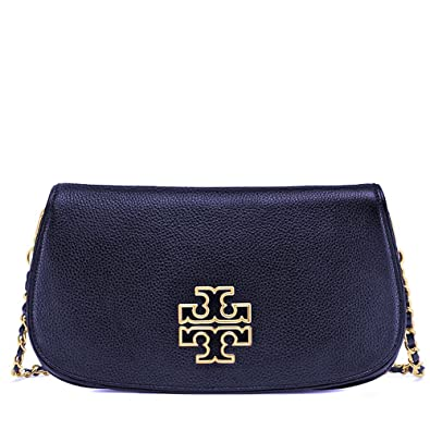 aa6f73ad4ccc Tory Burch Britten Clutch Leather Crossbody Bag Tote  Handbags  Amazon.com