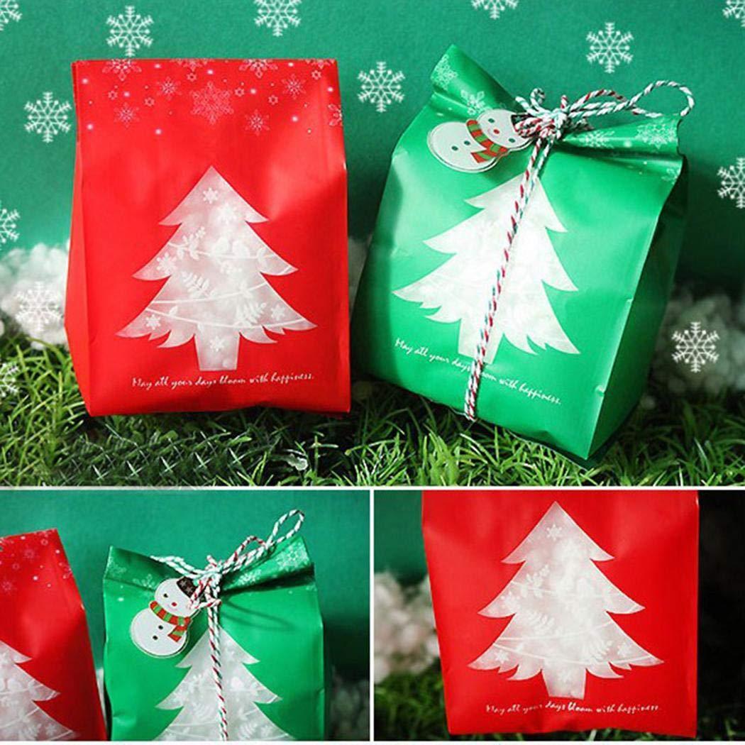 Alokie Sacchetti d'imballaggio del Regalo del Piccolo Biscotto di Candy di Natale Buon per i fornitori del Partito Stoviglie AlokieEU