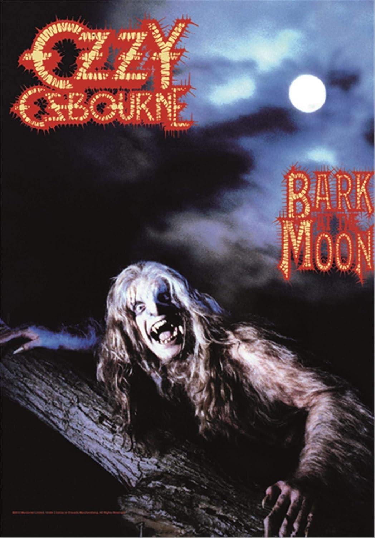 Heart Rock Licensed Bandera OZZY Osbourne–Bark at The Moon, Tela, Multicolor, 110x 75x 0,1cm