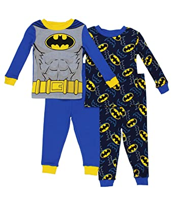 4860d412b Amazon.com  DC Comics Batman Boys 2fer 4 Piece Cotton Pajamas (2T ...