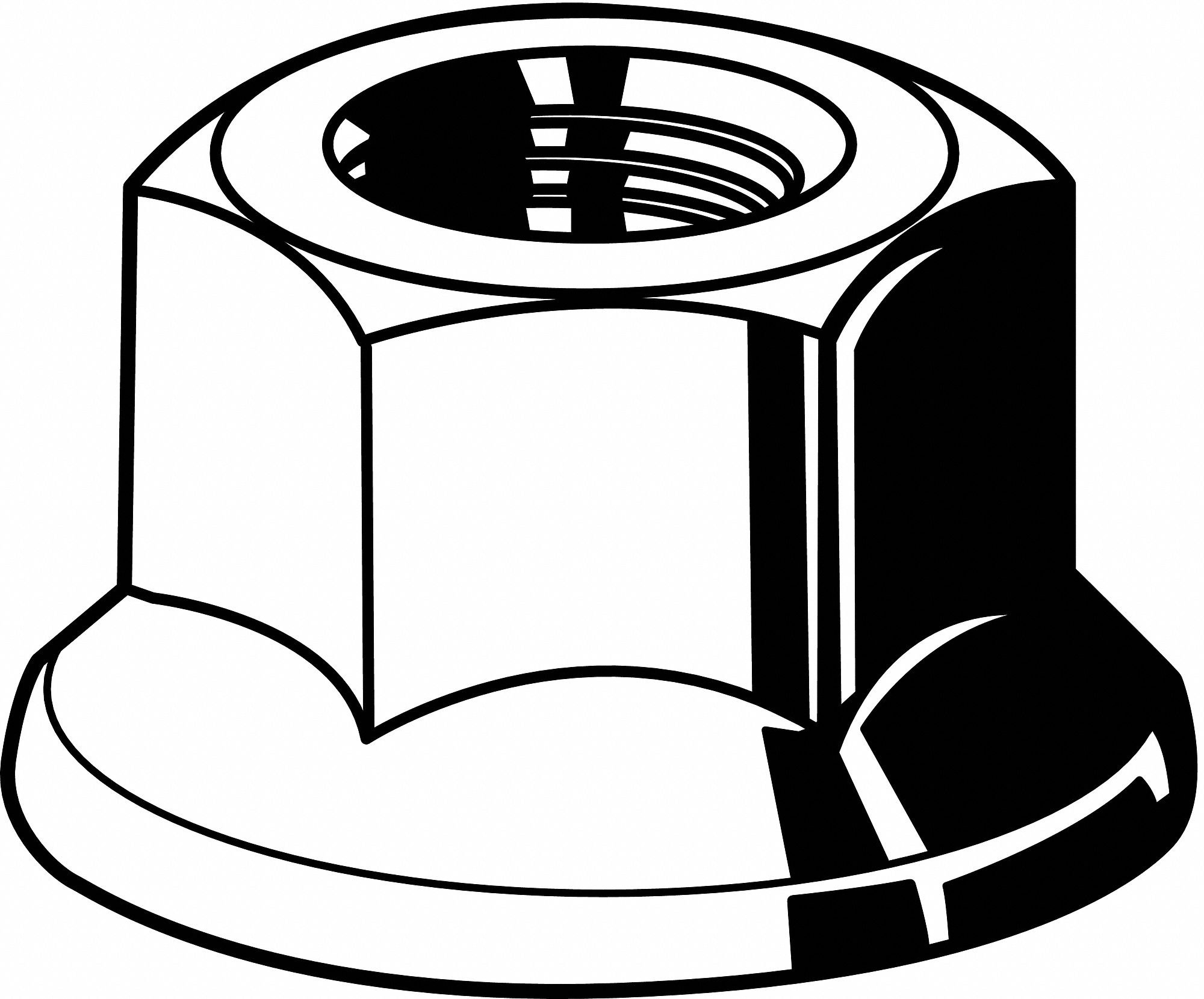 3/4''-10 Top Lock Flange Nut, Phosphate and Oil Finish, Grade C Steel, Right Hand, IFI-100/107, PK10