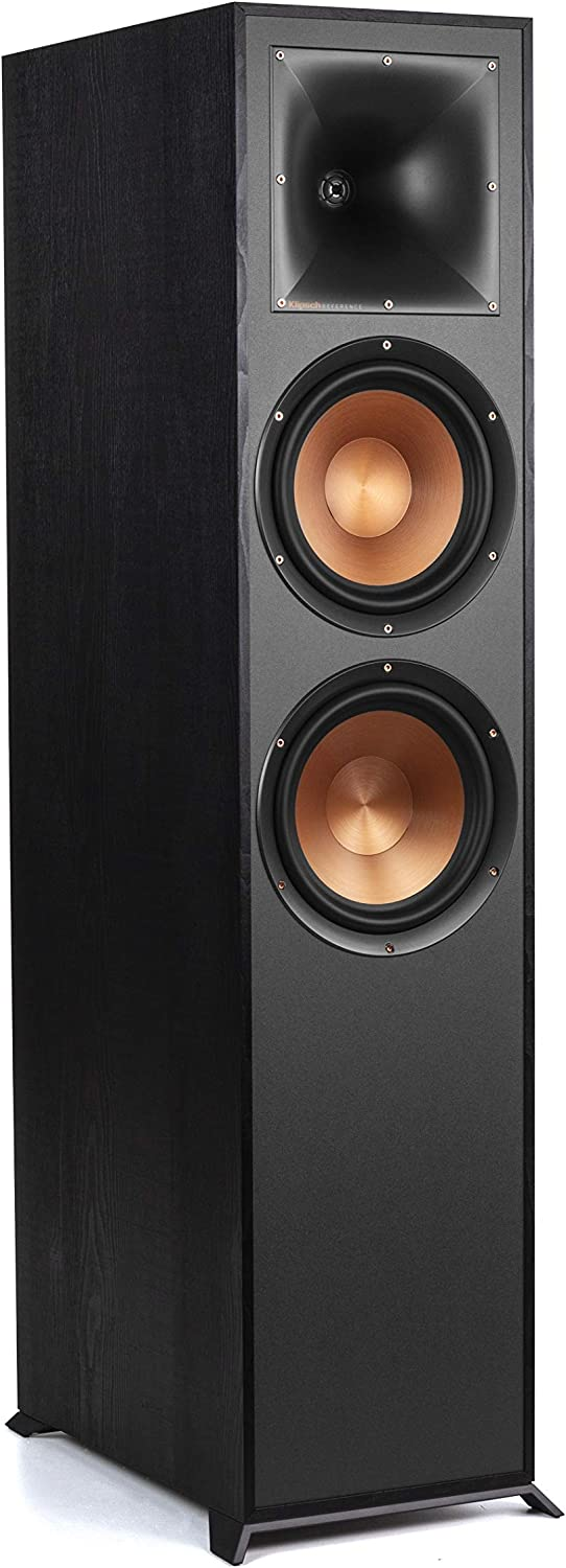 """Klipsch Reference R-820F Floorstanding Speaker for Home Theater Systems with 8"""" Dual Woofers, Tower Speakers with Bass-Reflex via Rear-Firing Tractrix Ports in Black"""