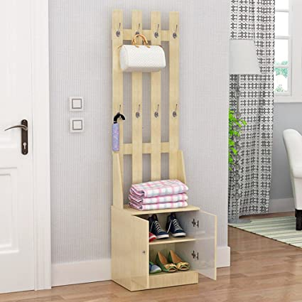 Shoe Rack Clothes Hanger Living Room,entrance,entry Shoe Cabinet Clothes  Locker Combined Simple