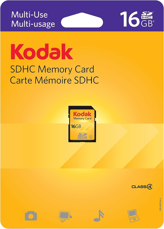 16 Gigabyte SDHC Class 4 Certified Professional Kingston MicroSDHC 16GB Card for Kodak M580 Camera Phone with custom formatting and Standard SD Adapter.