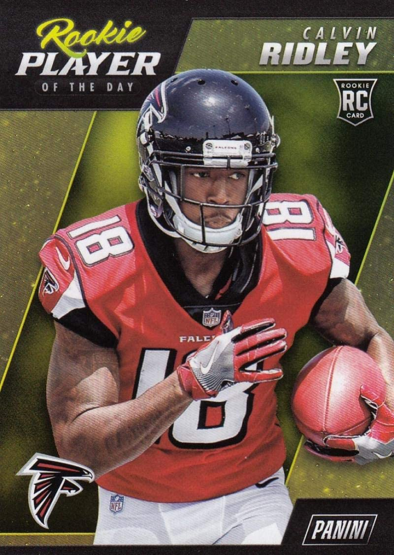 Amazon Com 2018 Panini Player Of The Day R9 Calvin Ridley R9 Nm Near Mint Rc Rookie Collectibles Fine Art