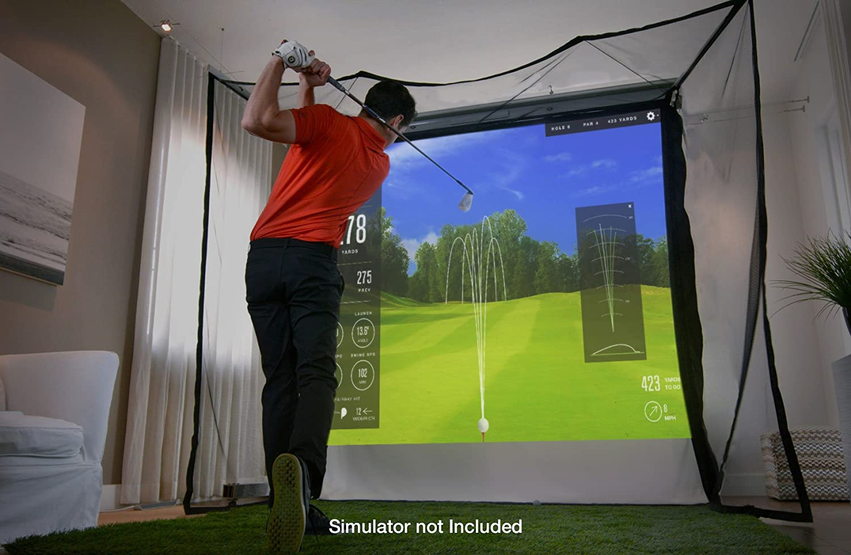 amazon com homecourse golf retractable pro screen sports