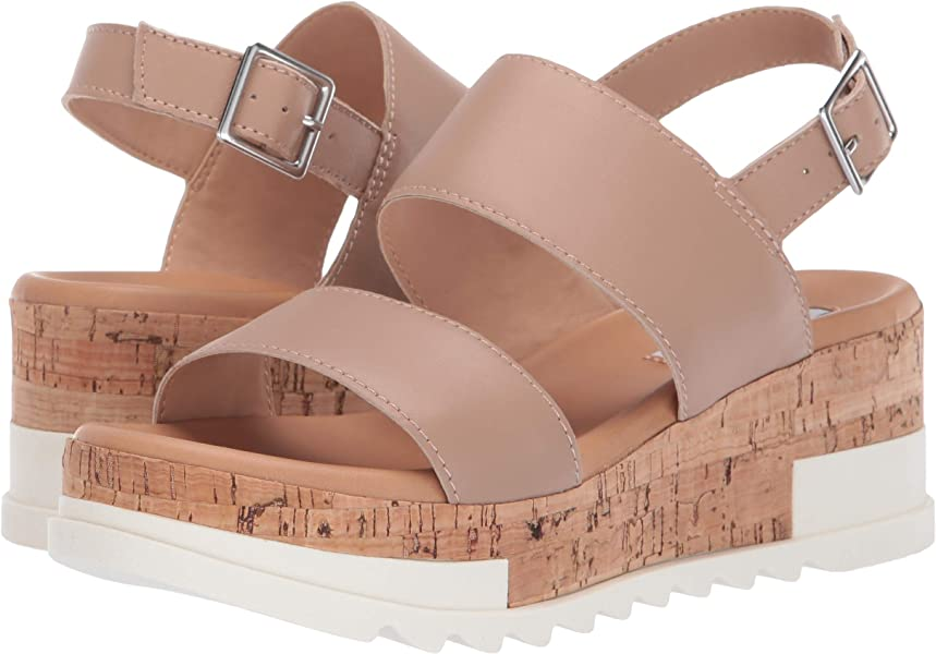 6ae6a39b623 Women's Brenda Wedge Sandal Natural Leather 10 M US