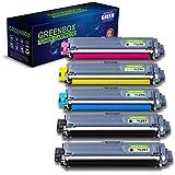 GREENBOX Brother (ブラザー) TN-291 2個/296 4色セット (K/C/M/Y) 大容量 互換トナーカートリッジ 合計5本セット 対応機種:JUSTIO HL-3140CW HL-3170CDW MFC-9340CDW DCP-9020CDW