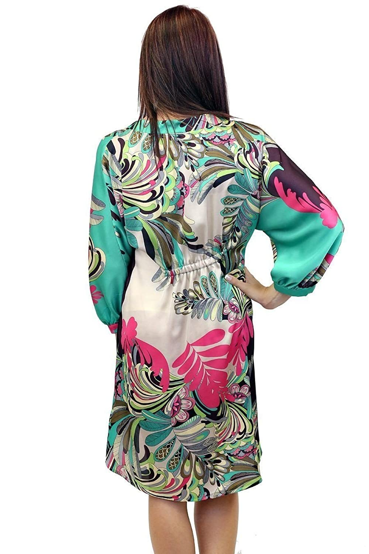 Uncle Frank 34000 Floral Dolman Sleeve Hi Lo Dress