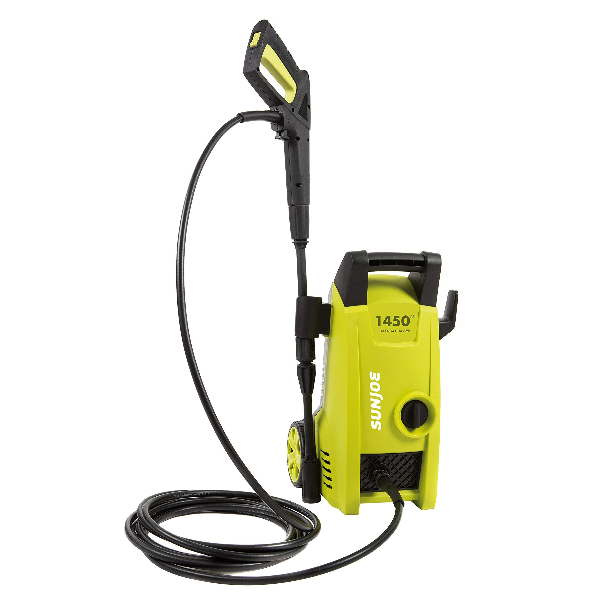 Sun Joe SPX1000 1450 PSI 1.45 GPM 11.5-Amp Electric Pressure Washer, Green (Renewed)