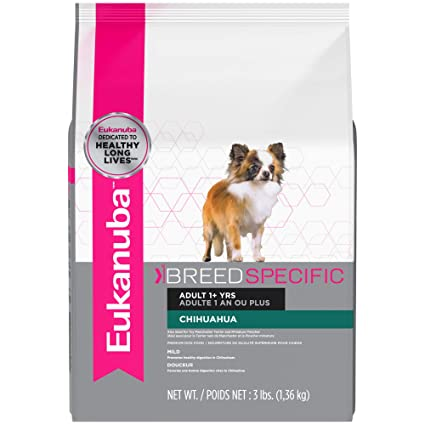 Image result for Eukanuba Breed Specific Adult Chihuahua Dog Food 3 Pounds